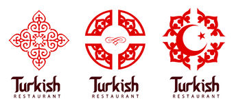 Logo turc de restaurant Images stock