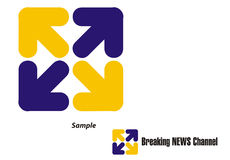 Logo - TV Channel/Travel/Tour. Logo for a TV Channel and any other enterprise who has to do with all the four directions - North East West South, i.e. NEWS/ royalty free illustration