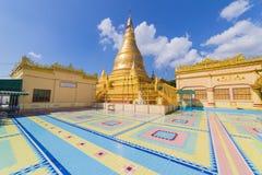 Logo U Ponya Shin Pagoda, Sagaing em Myanmar fotos de stock