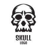 Logo umano del cranio Illustrazione di vettore illustrazione di stock