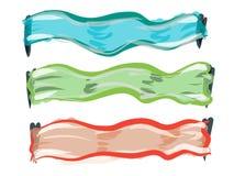 Logo und Aufkleber stock abbildung