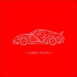 Logo- und Ikonenauto, roter Hintergrund Lizenzfreie Stockbilder