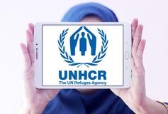 UNHCR , UN Refugee Agency, logo stock photo