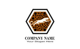 logo unico creativo di progettazione della tigre illustrazione di stock
