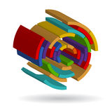 Logo. Unusual abstract geometrical figure Stock Photo