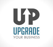 Logo - Upgrade your business. Concept