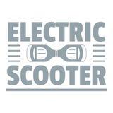 Logo urbain de scooter de compas gyroscopique, style gris simple illustration de vecteur