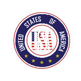 Logo USA Royalty Free Stock Images