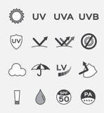 Logo uv, insieme Fotografie Stock