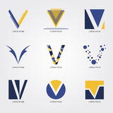 Logo V. Logo for organization or business - vector Royalty Free Stock Photography