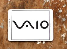 VAIO Corporation logo. Logo of VAIO Corporation on samsung tablet. VAIO Corporation is a manufacturer of personal computers Royalty Free Stock Photos