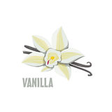 Logo Vanilla-Bauernhofdesign Stockfotografie