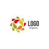 logo variopinto astratto del cerchio di gocce Logotype liquido di circolazione royalty illustrazione gratis