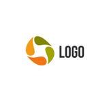 Logo variopinto astratto isolato del cerchio di gocce Logotype liquido di circolazione Scherza l'icona della scuola di arte, form illustrazione di stock