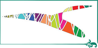 Logo variopinto dell'uccello Fotografia Stock