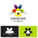 Logo variopinto della macchina fotografica Immagini Stock