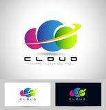 Logo variopinto della nuvola Fotografia Stock Libera da Diritti