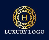 Logo Vector Design de luxe, royal et élégant, beau calibre Photo libre de droits