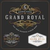 Logo Vector royal luxueux Photos stock