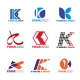 Logo-Vektorbühnenbild des Buchstaben K Stockfoto