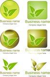 Logo vert Images libres de droits