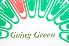 Logo ; vert allant. Photographie stock