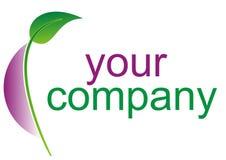Logo vert d'Eco Image stock