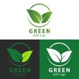 Logo vert de feuille, nature d'écologie Image stock