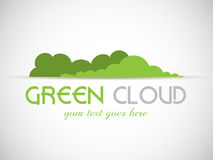 Logo vert de nuage Photo stock