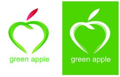 Logo vert de santé d'Apple Photographie stock libre de droits