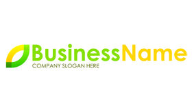 Logo vert et jaune de compagnie Photographie stock