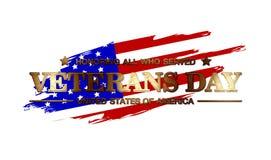 Logo Veterans Day Fotografie Stock