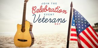 Composite image of logo for veterans day in america Stock Photography