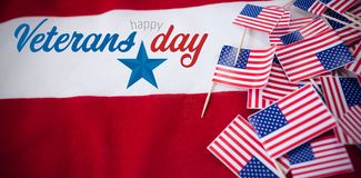 Composite image of logo for veterans day in america Royalty Free Stock Photos