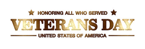 Logo Veterans Day Royalty Free Stock Photo