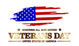 Logo Veterans Day Stock Photography