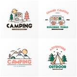 Logo Vetora Art Logo de acampamento criativo Imagens de Stock