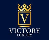 Logo Vetora Design do luxo, o real e o elegante, molde bonito Imagens de Stock Royalty Free