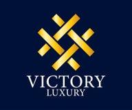 Logo Vetora Design do luxo, o real e o elegante, molde bonito Foto de Stock Royalty Free