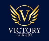 Logo Vetora Design do luxo, o real e o elegante, molde bonito Foto de Stock