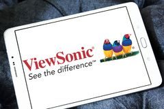ViewSonic company logo. Logo of ViewSonic on samsung tablet . ViewSonic Corporation is a manufacturer and provider of visual technology, specifically liquid Royalty Free Stock Photography