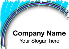 Logo vignette. A company logo template in blue Stock Images