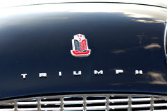 Logo vintage car Triumph Stock Photos