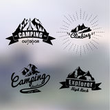 Logo vintage outdoor theme. Blur background Royalty Free Stock Images