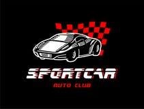 Logo von einem Sportauto Stockfotografie