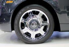 Logo von Rools Royce auf Rädern Lizenzfreie Stockbilder