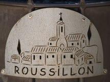 Logo von Roussillon, Frankreich Stockbild