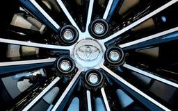 Logo von Toyota auf Rad Lizenzfreies Stockfoto