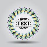 Logo w ramie z cieniem i twój tekstem Zdjęcie Stock
