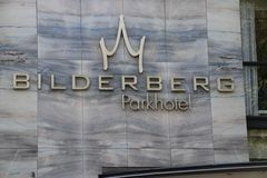 Logo on the wall of the Bilderberg Park Hotel on the Westersingel in downtown Rotterdam.  royalty free stock image
